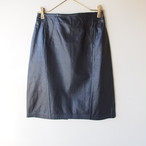 vintage leather skirt  #01