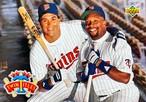 MLBカード 93UPPERDECK Kent Hrbek & Kerby Puckett #50 TWINS TEAMMATE