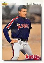 MLBカード 92UPPERDECK Chris Beasley #614 ANGELS