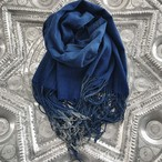 Antique Indigo Shawl/ Blue Wave
