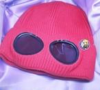 サングラスニット帽 レッド
