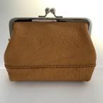 アウトレットセール【送料無料】ふっくらマチのある、本革親子がまぐちミニ財布