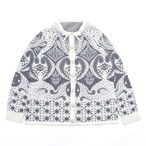 Retro paisley full pattern knit cardigan
