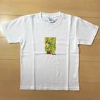 オールドTシャツ企画 スクエアプリントT りんごの木 SSサイズ