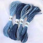 【お買い得品】徳島本藍染めヘンプ10m 4本セット(ネコポス発送可能)