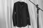 ASKYY / No collar ribbon shirts / BLK
