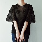 BLACK CLOCHE TOP.