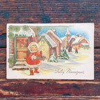Antique christmas postcard ①