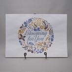 bloomingフラワー 紙袋(青/黄)