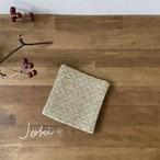Coaster[綿入り手織りコースター] 小紋イエロー