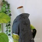 正絹紬 蔦の総柄小紋 袷