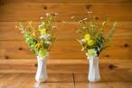 花器セット【お盆・お供え・仏花】お供え仏花花束 造花-Y-
