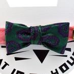 cat's collar vintage printed fabric