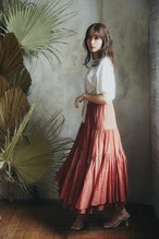 Asymmetric Tiered Cotton-Voile Skirt【新色】