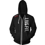 LIVE FIT Live Fit Zip Up - Black
