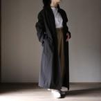 THE HINOKI コットンボイルパラシュートクロス スタンドアップカラーシャツドレス black #TH20S-16