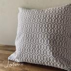 cushion cover[手織りクッションカバー] グレーNO.1