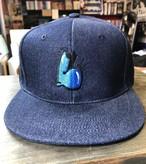 "LOCALHYTHM NEW LOGO BB CAP ""L"" インディゴ ベースボールキャップ 大柴裕介デザイン"