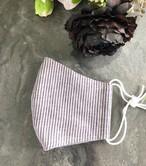 夏用 立体マスク 布 ワイヤー入り/ポケット付【女性ゆったりサイズ】017 パープル