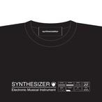 【Tシャツ】SYNTHESIZER T-shirt・シンセサイザーTシャツ・ブラック