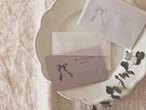 Merci Ruban  ミニカード+封筒 set