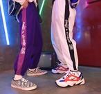 パンツ レディース メンズ 韓国ファッション ライン ストリート系 ロング 原宿 ズボン【tb-609】