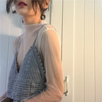 white mesh shirts + lace sling 2247