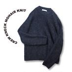 Crew kneck mohair knit [Black]
