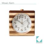 KATOMOKU wooden mosaic square alarm km-18N