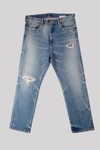 DESTROYED INDIGO  STRAIGHT LEG<TRIPLE DOUBLE>