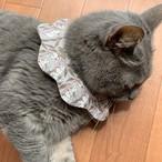 【送料無料】CAT BIB liberty スタイ首輪 リバティ もくもくキャットスタイ 猫首輪 ダブルガーゼ Cotton Tail:cloudy