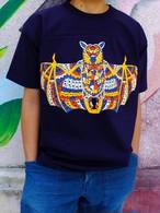 コウモリのフットボールTシャツ C/#ネイビー