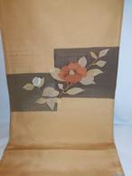 西陣椿すくい袋帯(未使用) Fukuro obi sash(camellia)