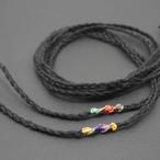 ヘンプ紐 三つ編み ブラック