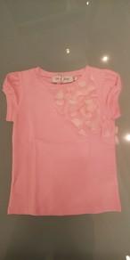 SpecialDay ドットチュールフリル付きTシャツ(ピンク) 8~10才