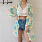 Chiffon Kimono Cardigan 《NEONYELLOW》