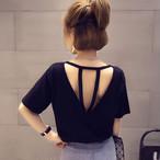 【tops】Tシャツシンプルおしゃれラウンドネック合わせやすい気質