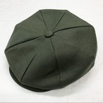 Irish Linen 8Panel Casquette Olive