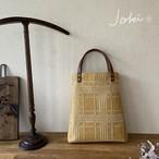 手織り[Aラインバッグ] イエロー
