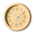 KATOMOKU muku round wall clock 2 km-45NRC 電波時計