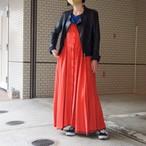 【hippiness】cupro corset dress(orange×brown)/ 【ヒッピネス】キュプラ コルセット ドレス(オレンジ×ブラウン)