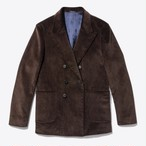 Oversized Double-Breasted Corduroy Sport Coat(Brown)
