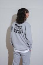 【10/6(WED)20:00販売開始】THREEARROWS LOGO SET UP SWEAT(gray)