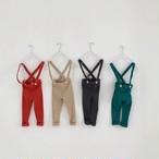 リブレギンス サスペンダーパンツ 韓国子供服/韓国ベビー服 男の子&女の子