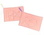 ダブルガーゼ 雑巾 台布巾 ぞうきん 台ふきん ピンク2枚セット_A