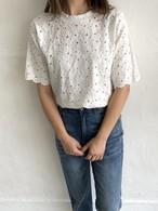 【送料無料】総レースTシャツ