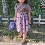ポルカドットスカート Lavender