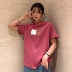 【tops】半袖Tシャツ夏新作シンプルプリントラウンドネック合わせやすい
