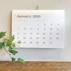 葛西薫カレンダー 2020(罫線なし)