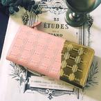 訳あり:革のストロベリーチョコ長財布(金の包み紙)